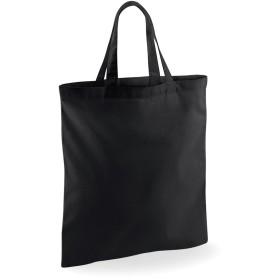 (ウエストフォード・ミル) Westford Mill ショートハンドル ショッピングバッグ エコバッグ ショッパー お買い物かばん トートバッグ (ワンサイズ) (ブラック)