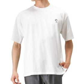 DISCUS(ディスカス) DISCUS×SNOOPY コラボTシャツ 半袖Tシャツ クルーネック プリントTシャツ 391153100-1 メンズ ホワイトB:S