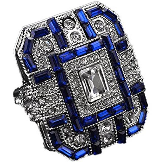 BAO8 アクセサリー ダイヤモンド ラインストーン ジルコン リング ファッション 女性 クリスタルシルバー ジュエリー ギフト プレゼント レディース 可愛い ジュエリー アクセサリー (10/19.8㎜, シルバー)