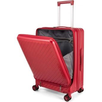 Osonm スーツケース キャリーバッグ コンピュータケース 機内持込可 厚くする 耐摩耗 二重ファスナー 八輪キャスター 静音設計 TSAロック搭載 3022 (S, レッド)
