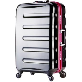 [アウトレット]スーツケース キャリーケース キャリーバッグ ハードキャリー カラーフレーム 日乃本キャスター ML サイズ 超軽量 中型 TSAロック 鏡面 ハードケース フレーム レジェンドウォーカー W-6016-66 ブラック・ピンク