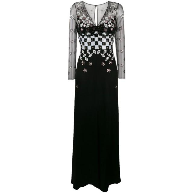 Temperley London Splendour デコラティブ ドレス - ブラック