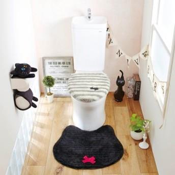 黒猫のトイレマット(マット)