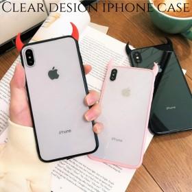 iphoneケース 透明 xr xs 8 plus 7 6s スマホ ケース 韓国 アイフォンケース カップル おしゃれ 大人可愛い かわいい シンプル ペア