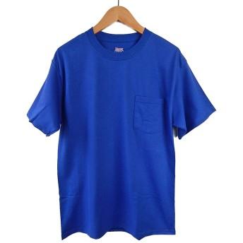 (ヘインズ) HANES BEEFY TEE POCKET ヘインズ メンズ ポケットTシャツ 5190p ビーフィー [並行輸入品] (M, ロイヤルブルー)