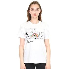 グラニフ(graniph) 【ユニセックス】コラボレーションTシャツ/ぞうのエルマーアンドラインアート(ぞうのエルマー)【001ホワイト/S】