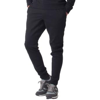 [トップイズム] スウェット パンツ メンズ ジョガーパンツ イージーパンツ ストレッチ 無地 2-ブラックラインなし LLサイズ