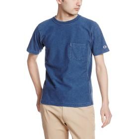 [チャンピオン] リバースウィーブ ポケット付きTシャツ C3-H307 メンズ ストーンウォッシュブルー 日本 L (日本サイズL相当)