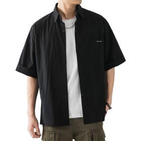 [YFFUSHI] シャツ メンズ 七分袖 シャツジャケット カジュアルシャツ