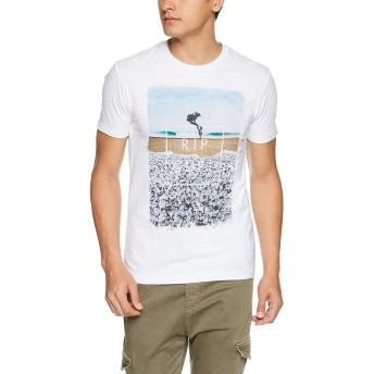 (リップカール)RIPCURL メンズ 半袖 Tシャツ (フォトプリント) [ U01-204 / GOOD DAY BAD DAY SS TEE ] U01-204 WBG WBG_ホワイト M
