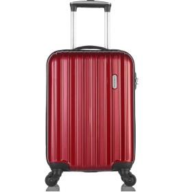 [レジェンドウォーカー] スーツケース ジッパー ハードスーツケース 4輪 快適な走行性能のキャスター 5096-47-ホワイトカーボン 保証付 35L 55 cm 2.5kg ワインレッド