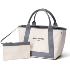 (バレンシアガ) BALENCIAGA キャンバス ロゴプリント ポーチ付き トートバッグ [BCL339933AQ38N]グレー / - [並行輸入品]