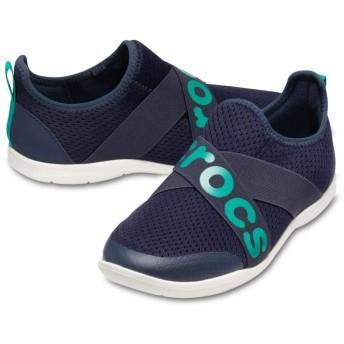 【クロックス公式】 スウィフトウォーター クロス ストラップ ロゴ アウトレット Women's Swiftwater Cross-Strap Logo Slip-On ウィメンズ、レディース、女性用 ブルー/青 21cm,22cm,23cm,24cm,25cm shoe 靴 シューズ