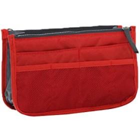 DICE バッグインバッグ インナーバッグ トートバッグ 整理 baginbag 収納 トラベルポーチ (レッド)