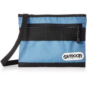 [アウトドアプロダクツ] サコッシュ ウェビング テープ バッグインバッグ 軽量 大容量 斜め掛け スティールブルー
