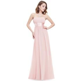 Ever Pretty レディース ハイウエスト 素敵なパーティードレス 各種シーンに ロングドレスUS10 ピンク EP09955PK10