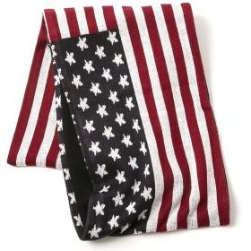 マフラー カラーUSA スヌード 76cm×25.5cm フリーサイズ アクリル ポリエステル おしゃれ 防寒 秋冬 冬物 春物 男女兼用 紳士 男性 女性 (ベーシックエンチ)Huge Flag Snood