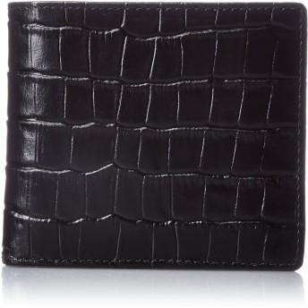 [カンサイセレクション] 紳士用型押し 折財布 S-KSE105018BK ブラック