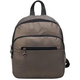 女性のソリッドカラーのバックパック防水ショルダーバッグ大容量コンピュータバッグ