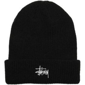 (ステューシー) STUSSY HO18 BASIC CUFF BEANIE (BEANIE)(132905-BK) キャップ 帽子 ニットキャップ ビーニー ベーシックロゴ 国内正規品 F ブラック