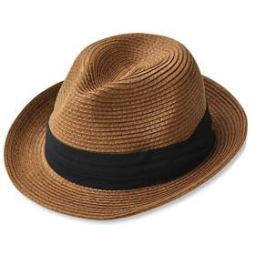 (エッジシティー) EdgeCity 折りたたみ可能 大きいサイズ メンズ 麦わら帽子 ストローハット 3L 65cm 000319-0025-65