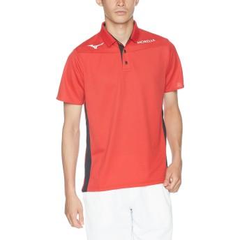 [ミズノ] サッカーウェア ドライベクター ポロシャツ モレリア 高通気 高湿速乾 スリムフィット 細身 男女兼用 P2MA8005 チャイニーズレッド XL