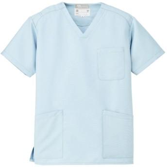 (ルミエール) Lumiere 男子 女子 男女兼用 スクラブ メディカルウェア 白衣 861405 Sサイズ サックス 861405-007