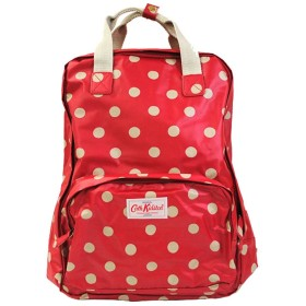 (キャスキッドソン) Cath Kidson バックパック BackPack トラベルバッグ パソコン収納 マット加工 レディース (cathks-backpack) 417112 button spot Cranberry [並行輸入品]
