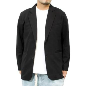 テーラードジャケット メンズ ストレッチ 撥水加工 スウェット ジャケット M ブラック