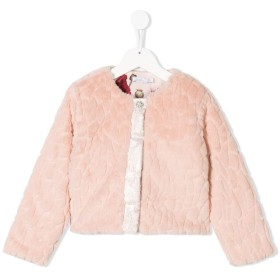 Patachou エコファー ジャケット - ピンク