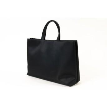 【完全自立型バッグ】ナイロンサテンビックトート シンプル無地【黒】【当店オリジナル正規品】
