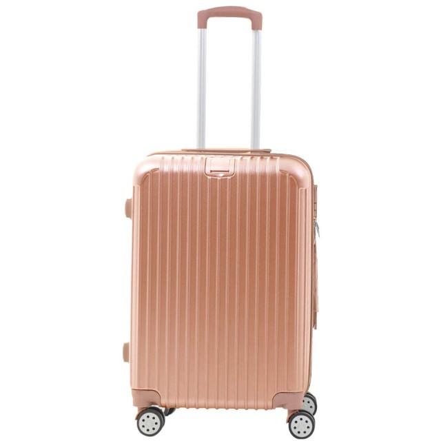 Sun Ruck スーツケース 容量63L 高さ66cm 3~5泊 ファスナータイプ TSAロック付き キャリーバッグ Mサイズ SR-BLT028-RGD ローズゴールド