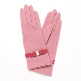 (ロベルタ ディ カメリーノ)Roberta di Camerino レディース ジャージ手袋 ロゴ入りバックル リボンベルトデザイン Mサイズ ピンク