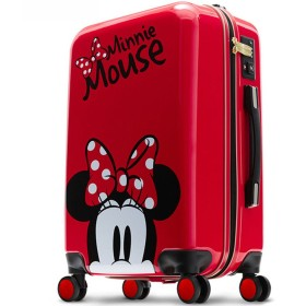 DISNEY MINNIE スーツケース ジッパータイプ Sサイズ 機内持ち込み 赤 ディズニー ミニー 短期旅行 修学旅行 国内 キャリーケース キャリーバッグ キャラクター 可愛い おしゃれ レッド