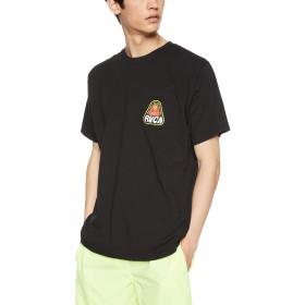 [ルーカ] [メンズ] 半袖 プリント Tシャツ (スタンダードFIT)[ AJ041-230 / CASTAWAY SS TEE ] おしゃれ ロゴ BLK_ブラック US L (日本サイズL相当)