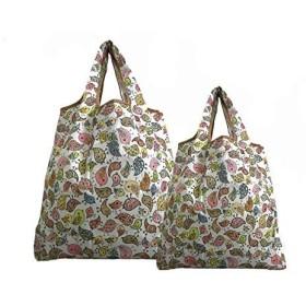 折りたたみ式防水買い物袋 2個 (鳥)