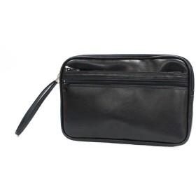 日本製 合皮セカンドバッグ/集金鞄 W 26 × H 18cm  「鞄の街」豊岡製  クロ