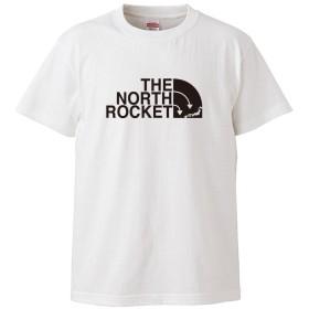(ザ・ノース・ロケット)THE NORTH ROCKET 5.6oz(オンス)半袖Tシャツ XL ホワイト ロゴ大