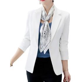 VITryst Women Long Sleeve Fall Silm Career Business Coat Jacket Suit White XS