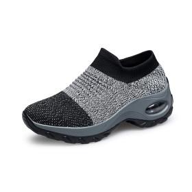 [Refoni] ウォーキングシューズ レディース 厚底スニーカー 運動靴 船型底ナースシューズ ランニングシューズ カジュアル スリッポン ストレッチ エアクッション 軽量 柔軟 通気 履きやすい