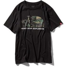 THE NORTH FACE ノースフェイス NT31932 ショートスリーブカモフラージュロゴティー(メンズ) サイズS (K)ブラック