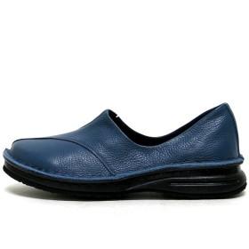 [GALLERY] 【21~25.5cm】【日本製】(ギャラリーエムアンドシー) m&c 本革スリッポン 25.0cm ブルー