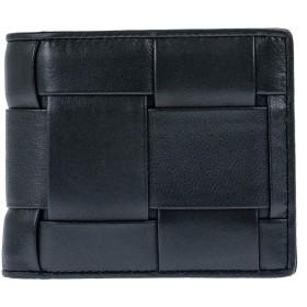 ギオネ 二つ折り財布 PG201 レザー ネイビー(ビック模様)