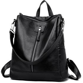 DOODOO レディース リュック ミニ バックパック PUレザー ポシェット Mini Rucksack Bag for Women ブラック [並行輸入品]