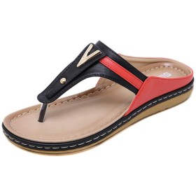 [GoldFlame-JP] レディース サンダル ローヒール ビーチサンダル トングサンダル 軽量 柔らかい 歩きやすい かわいい 滑り止め コンフォート スリッパ ボヘミアン風 海辺 プール リゾート ビーサン 大きいサイズ