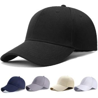 キャップ 帽子,Poofa メンズ レディース 夏 秋 釣りランニングキャッ無地ベースボール キャップ 野球帽キャップ コットンキャップ シンプル ゴルフ日除け UVカット 紫外線対策スポーツ ジョギング帽子 (ブラック)
