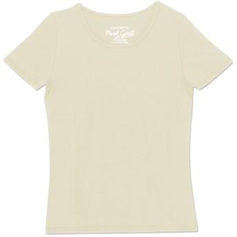 (パークガール)PARK GIRL コットン100%フライス素材無地クルーネック半袖Tシャツ レディース 大きいサイズ S/M/L/LL/3L 5628800000 (M, オフホワイト)