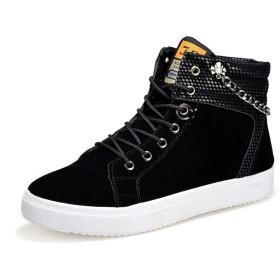 [ZOCOLA] ゾコラ スニーカー メンズ ハイカット キャンバス 鎖 チェーン 小物 シューズ 靴 黒 白 オラオラ トールシューズ シークレット フォレスト リゾート カジュアル おしゃれ