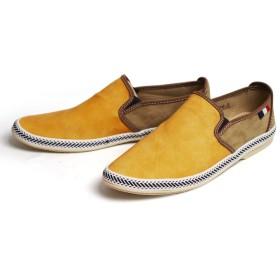 EDWIN(エドウィン) スリッポン メンズ スニーカー サイドゴア バブーシュ カジュアルシューズ 26cm(26.5cm相当) Yellow イエロー 黄色