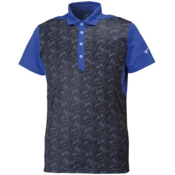 MIZUNO SHOP [ミズノ公式オンラインショップ] ソーラーカットポロシャツ(大きいサイズ)[メンズ] 25 サーフブルー 32JA8G70